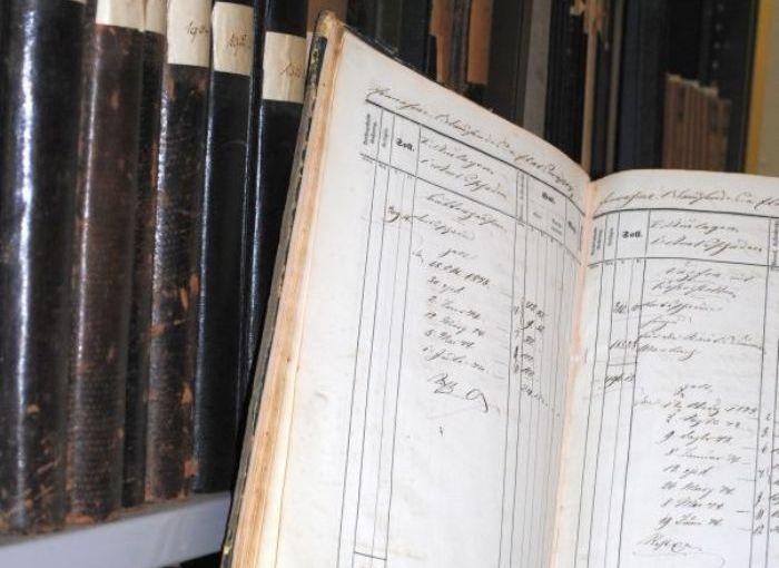 Archivalien aus den Magazinräumen des Kreisarchivs, Bild: Kreisarchiv