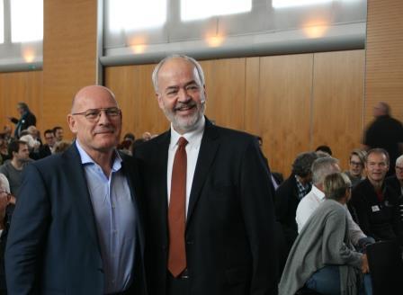 Minister Winfried Hermann und Landrat Thomas Reumann beim Mobilitätskongress 2030