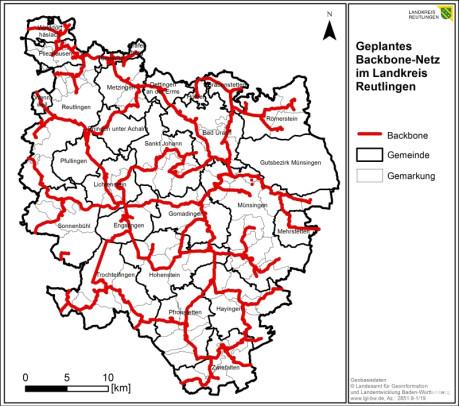Backboneplanung Landkreis Reutlingen