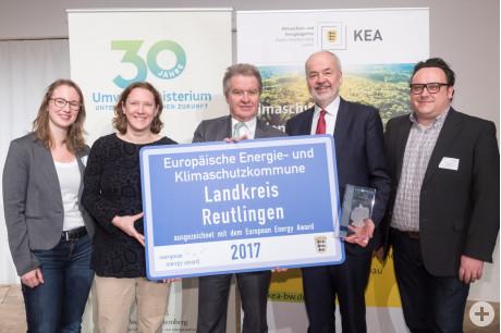 Verleihung des European Energy Award am 19. Februar 2018 im Stadthaus Ulm durch den Minister für Umwelt, Klima und Energiewirtschaft BW, Franz Untersteller.