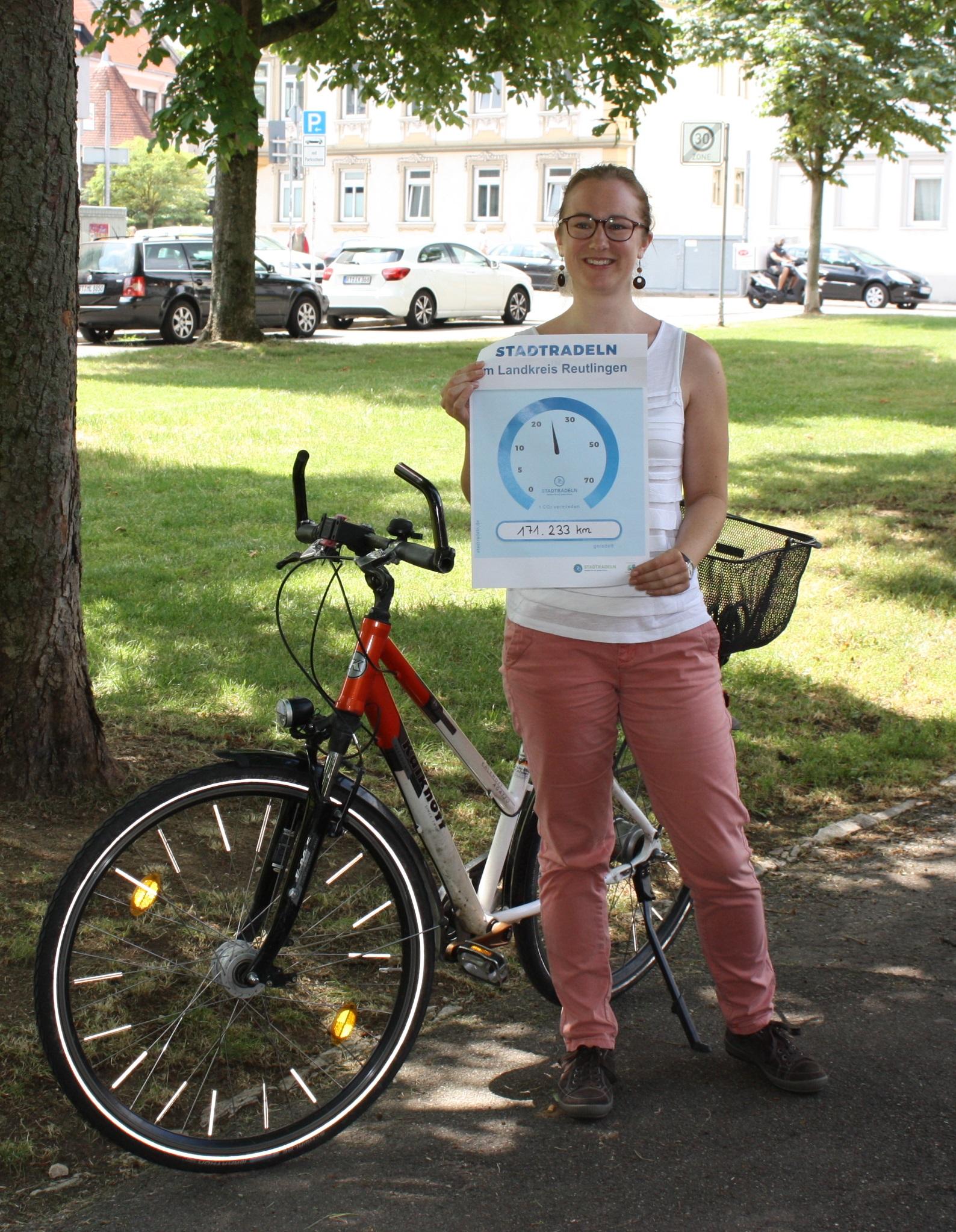 Klimaschutzbeauftragte mit Ergebnis Stadt-Land-Radeln