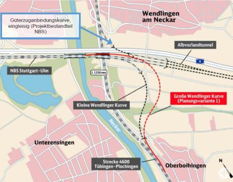 Planung Große Wendlinger Kurve; Quelle: DB Projekt Stuttgart-Ulm GmbH, Okt. 2017