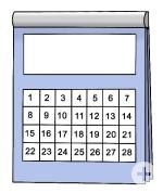 Kalender, 28 Tage