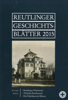 Reutlinger Geschichtsblätter 2015