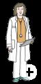 Das Bild zeigt eine Ärztin.