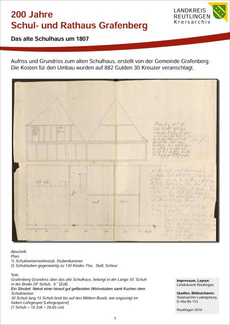 Das alte Schulhaus um 1807 Teil 1