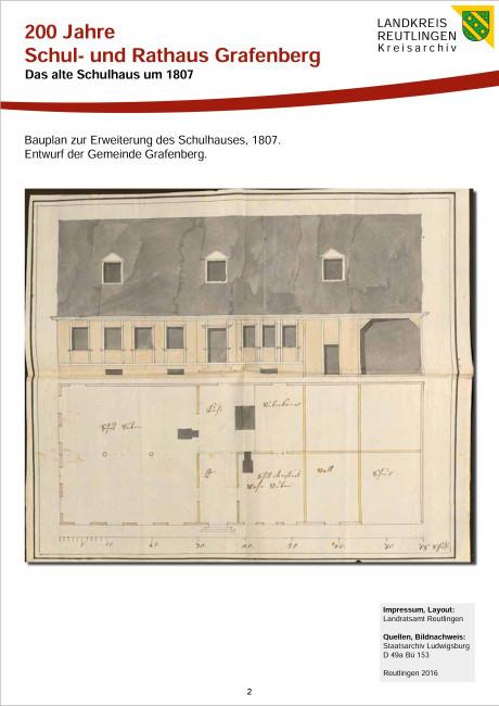 Das alte Schulhaus um 1807 Teil 2