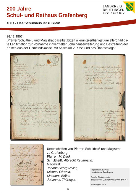 1807 - Das Schulhaus ist zu klein