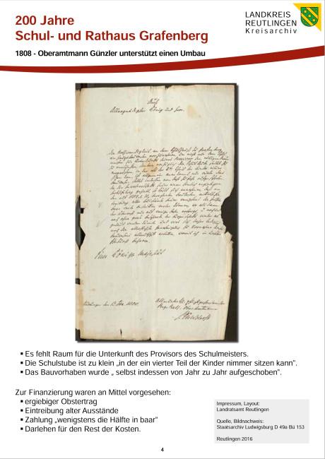 1808 - Oberamtmann Günzler unterstützt einen Umbau