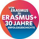 Logo 30 Jahre Erasmus-Förderung
