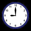 Das Bild zeigt eine Uhr. Die angezeigte Uhrzeit ist 9 Uhr.