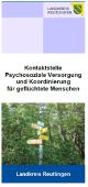 Flyer Kontaktstelle Psychosoziale Versorgung und Koordination von Geflüchteten