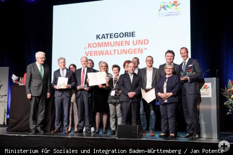 Verleihung des Integrationspreises des Landes Baden-Württemberg 2019 an Landrat Thomas Reumann
