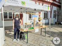 Auftakt STADT-LAND-RADELN 2020 in Bad Urach auf dem Wochenmarkt